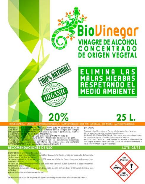 Herbicida ecológico BioVinegar